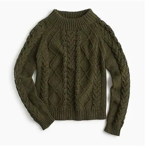 J.Crew Mockneck cable-knit sweater-Size Small